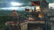 Marth, Ike y Daraen en el Castillo Asediado SSB4 (Wii U) (1)