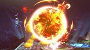 Mega Man derrotando a Yellow Devil SSBU