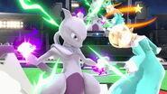 Mewtwo y Estela en el Estadio Pokémon SSBU