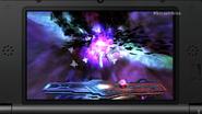 Kirby en Destino final con Master Hand en SSB4 (3DS)