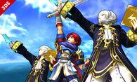 Roy y Daraen haciendo burlas SSB4 (3DS)