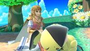 Zelda junto a Pichu en la Isla Tórtimer SSBU