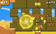 Mario dorado en New Super Mario Bros 2