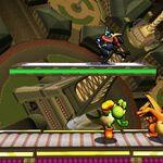 Yoshi, Greninja y Charizard en la Torre Prisma SSB4 (3DS).jpg