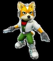 Art oficial de Fox McCloud en Star Fox 64 3D