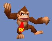 Donkey Kong usando Puñetazo gigantesco SSB