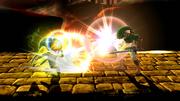 Golpe Trifuerza (Toon Link) (1) SSB4 (Wii U)