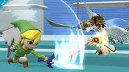 Ataque Fuerte Lateral de Toon Link en SSB4 (Wii U)