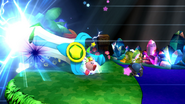 Kirby usando Gran Espada (3) SSB4 (Wii U)