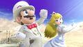 Mario y Peach en el Reino del Cielo SSBU