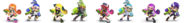 Paleta de colores de Inkling SSBU