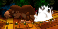 Donkey Kong usando Puñetazo gigantesco (2) SSB
