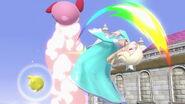 Estela y Kirby en el Templo SSBU