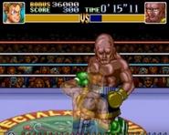 Little Mac a punto de dar un golpe directo en Super Punch-Out!!