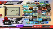 Zona Extraplana X en el Menú de Escenarios SSB4 (Wii U)