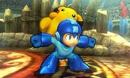 Mega Man y Pikachu en el Coliseo de Regna Ferox SSB4 (3DS)