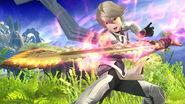 Corrin en las Llanuras de Gaur SSB4 (Wii U)