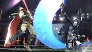 Lucina e Ike en el Cuadrilátero SSB4 (Wii U)