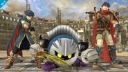 Meta Knight junto a Ike y Marth SSB4 (Wii U)