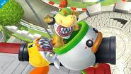 Bowsy usando Cañón Minihelikoopa en el Circuito Mario SSB4 (Wii U)
