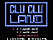 Pantalla principal Clu Clu Land