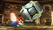 Mario lanzando un Barril SSB4 (Wii U)