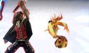 Dunban y Riki en el Smash Final de Shulk SSB4 (3DS)