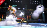 Ataque Smash hacia arriba de Ike SSB4 (3DS)