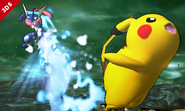 Greninja atacando a Pikachu SSB4 (3DS)