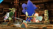Sonic y Link en la Central Geotérmica SSB4 (Wii U)