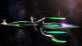 Palutena, Samus y Peach en la Estación espacial SSB4 (Wii U)