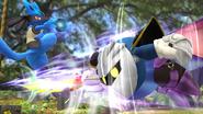 Meta Knight usando su Turbotaladro SSB4 (Wii U)