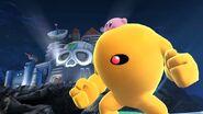 Kirby y Yellow Devil en el Castillo del Dr. Wily SSB4 (Wii U)