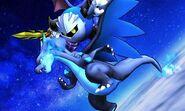 Mega-Charizard X y Meta Knight en SSB4 (3DS)