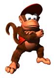 Pegatina de Diddy Kong en DK64 SSBB.png