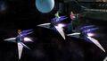 Samus, Peach y Palutena en la Estación espacial SSB4 (Wii U)