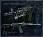 Illustration SoC&CoP weapon AKM-74-2
