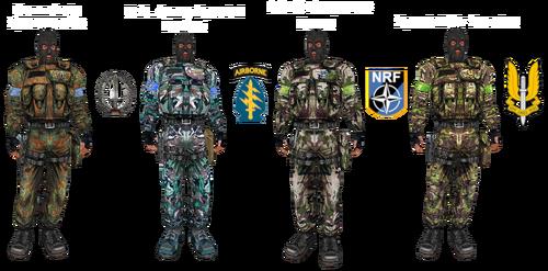 Бойцы особых подразделений зарубежных армий в ресурсах мультиплеера