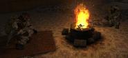 Monolit przy ognisku