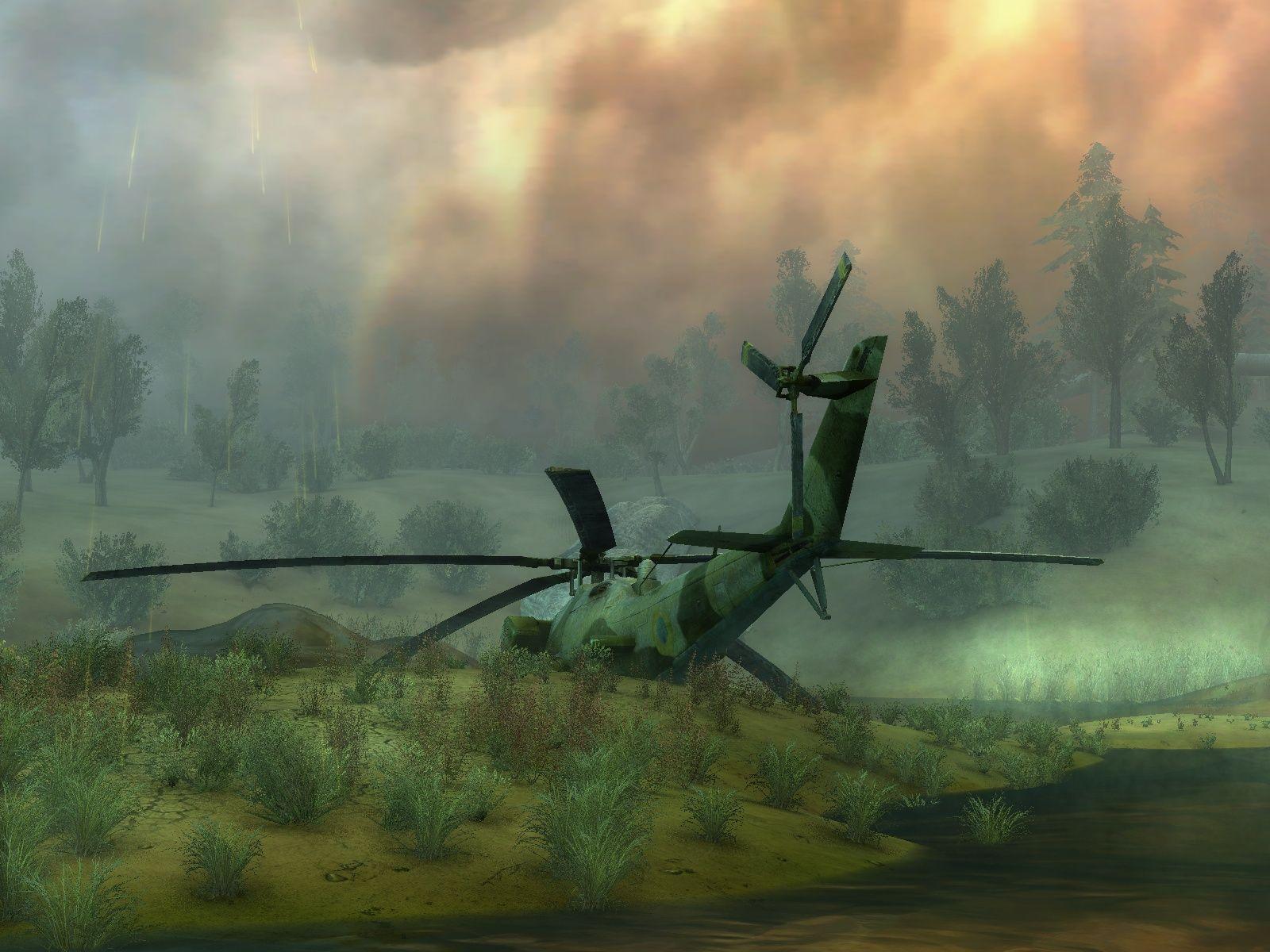 Сталкер где можно летать на вертолете