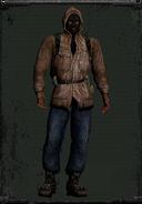 Skórzana kurtka beżowa z kominarką