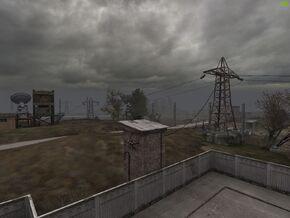Вид с крыши военного комплекса