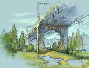 Концепт-арт опор моста