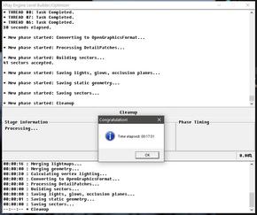 Успешное завершение компиляции на ОС Windows 10