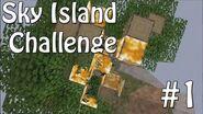Minecraft Xbox - Sky Island Challenge - The Worst Start! -1-