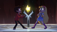 S4E13 Marco and Star see Stone glowing yellow