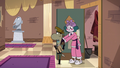 S3E28 Eclipsa pushing Sean out of the coat closet
