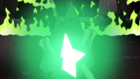 S2E14 Ludo's wand pulsing with a green glow