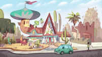 S2E36 Diazes' house with green car parked in front