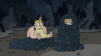 S3E27 Star Butterfly wrapped in a pile of leaves